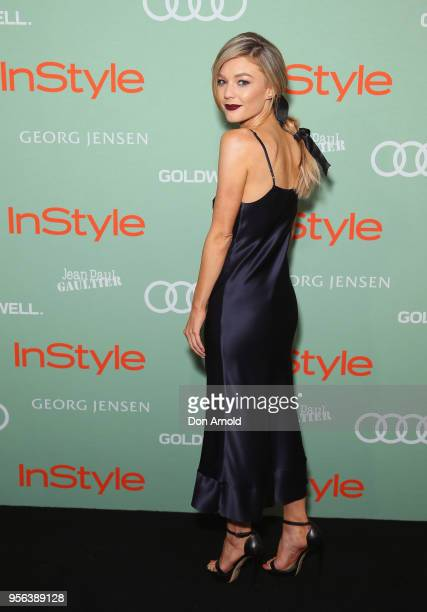 Sam Frost arrives ahead of the Women of Style Awards at Museum of Contemporary Art on May 9 2018 in Sydney Australia