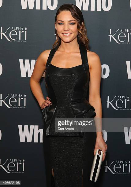 Sam Frost arrives ahead of WHO Australia's Most Intriguing People 2015 party at Ananas on November 11 2015 in Sydney Australia