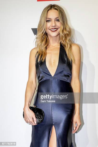 Sam Frost arrives at the 59th Annual Logie Awards at Crown Palladium on April 23 2017 in Melbourne Australia