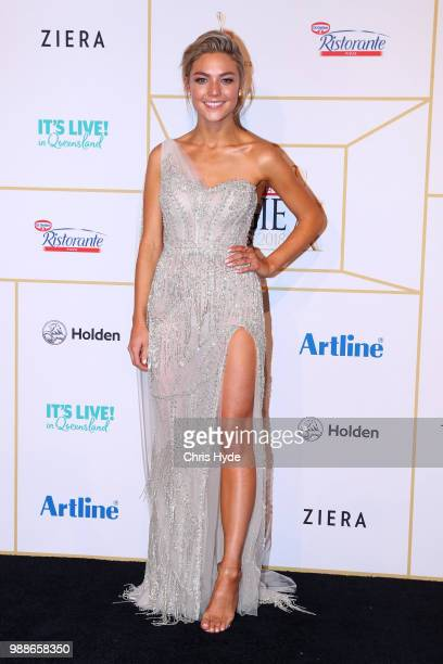 Sam Frost arrives at the 60th Annual Logie Awards at The Star Gold Coast on July 1 2018 in Gold Coast Australia