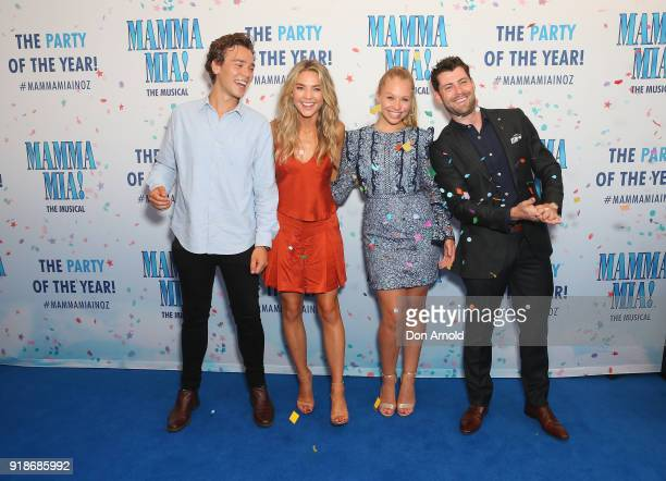 Sam Frost Olivia Deeble and castmates arrive ahead of the premiere of Mamma Mia The Musical at Capitol Theatre on February 15 2018 in Sydney Australia