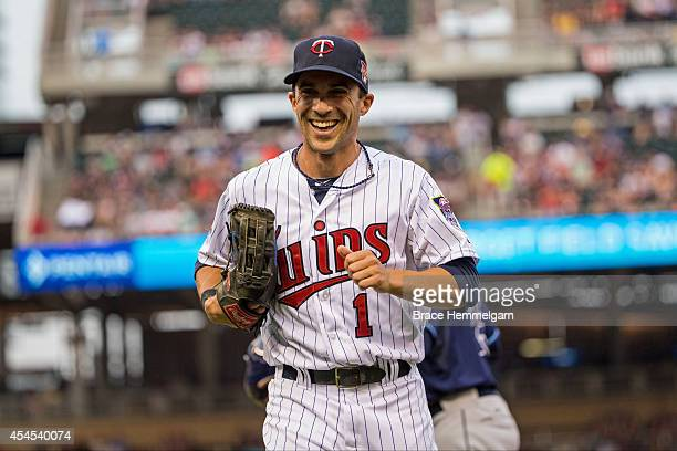 Sam Fuld of the Minnesota Twins against the Tampa Bay Rays on July 18 2014 at Target Field in Minneapolis Minnesota The Rays defeated the Twins 62