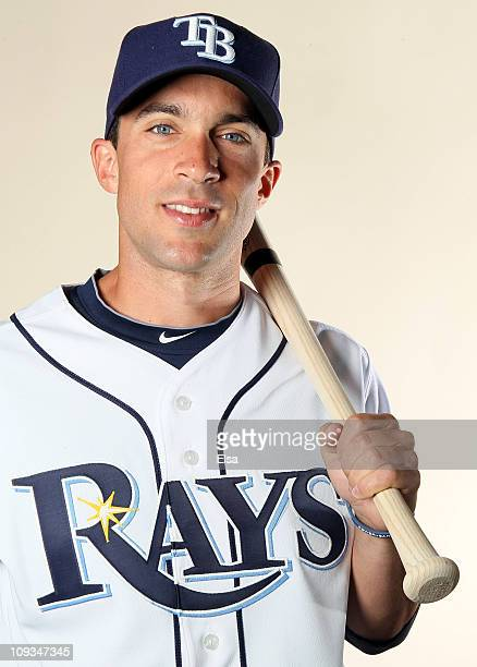 Sam Fuld of the Tampa Bay Rays poses for a portrait during the Tampa Bay Rays Photo Day on February 22 2011 at the Charlotte Sports Complex in Port...