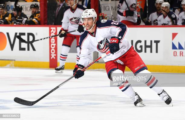Sam Gagner of the Columbus Blue Jackets skates against the Pittsburgh Penguins in Game Two of the Eastern Conference First Round during the 2017 NHL...