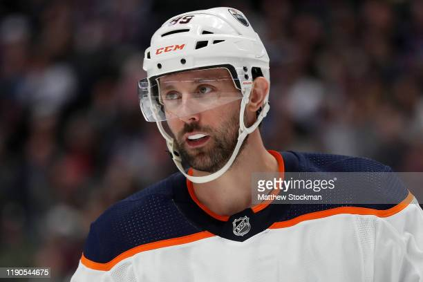 Sam Gagner of the Edmonton Oilers plays the Colorado Avalanche in the second period at the Pepsi Center on November 27, 2019 in Denver, Colorado.