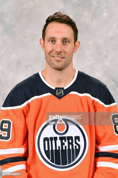 Sam Gagner of the Edmonton Oilers poses for his official headshot for the 2019-2020 season on September 10, 2019 at Rogers Place in Edmonton,...