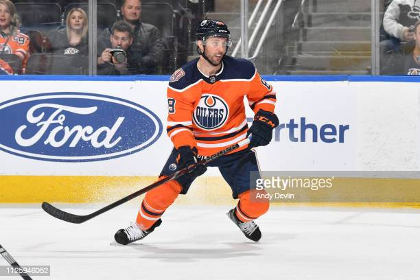 Sam Gagner of the Edmonton Oilers skates during the game against the Arizona Coyotes on February 19 2019 at Rogers Place in Edmonton Alberta Canada