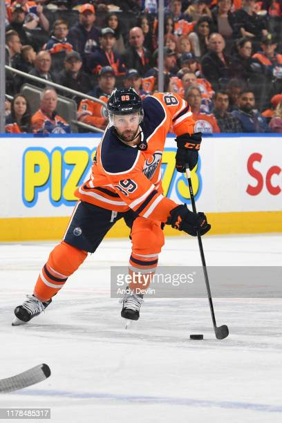 Sam Gagner of the Edmonton Oilers skates during the game against the Florida Panthers on October 27 at Rogers Place in Edmonton, Alberta, Canada.