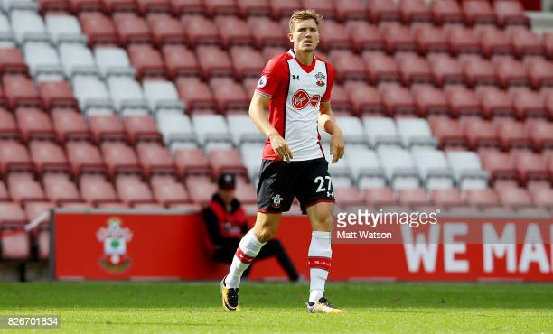 Sam Gallagher during the preseason friendly between Southampton FC and Sevilla at St Mary's Stadium on August 5 2017 in Southampton England