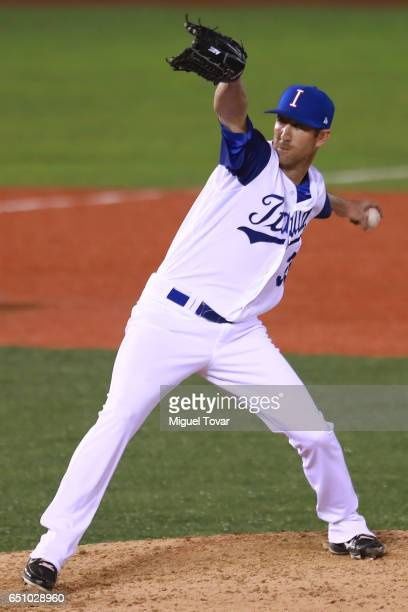 Sam Gaviglio of Italy pitches in the top of the eighth inning during the World Baseball Classic Pool D Game 1 between Italy and Mexico at...