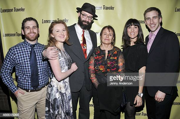 Sam Gelfer Sylvie Davidson Trevor Wheetman Anna Lomax Wood Jamie Drake and Justin Flagg attend the opening night party for OffBroadway's Lonesome...