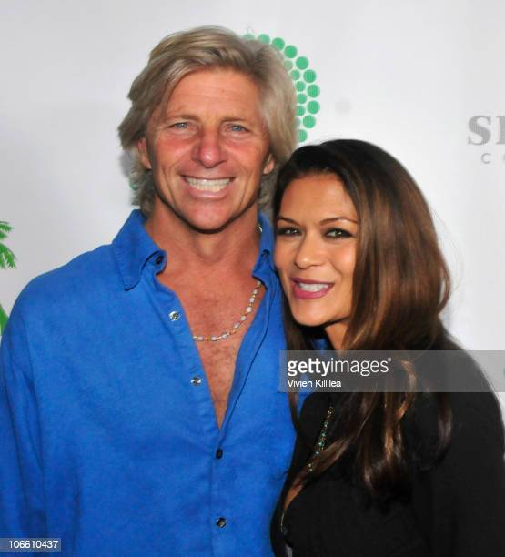Sam George and actress Nia Peeples attend RethinkGreen Awards Ceremony at Blackwelder LA on November 6 2010 in Culver City California
