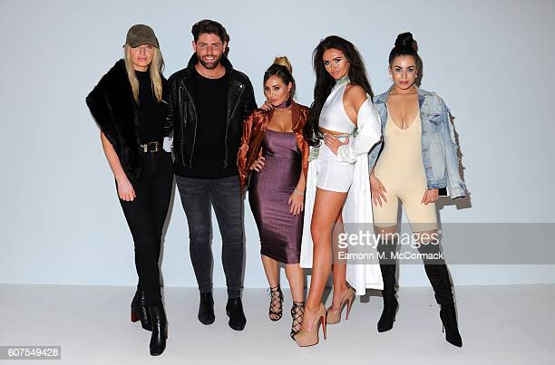 Sam Giffen Lauryn Goodman Charlotte Dawson and Katie Salmon attend the House of Mea show at Fashion Scout during London Fashion Week Spring/Summer...