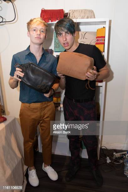 Sam Golbach and Colby Brock attend Backstage Creations Celebrity Retreat At Teen Choice 2019 on August 11 2019 in Hermosa Beach California
