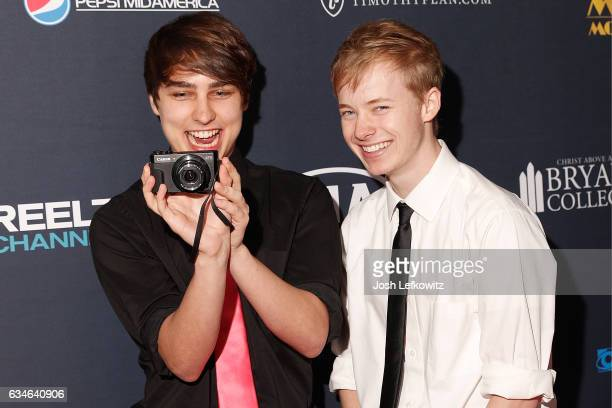 Sam Golbach and Colby Brock attend the 25th Annual Movieguide Awards Gala at Universal Hilton Hotel on February 10 2017 in Universal City California