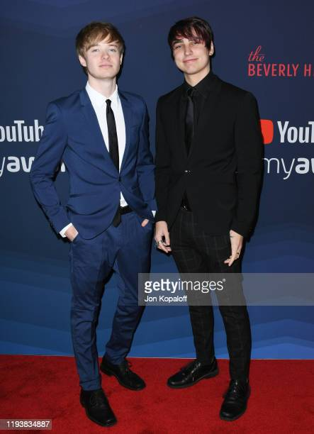 Sam Golbach and Colby Brock attend the 9th Annual Streamy Awards at The Beverly Hilton Hotel on December 13 2019 in Beverly Hills California