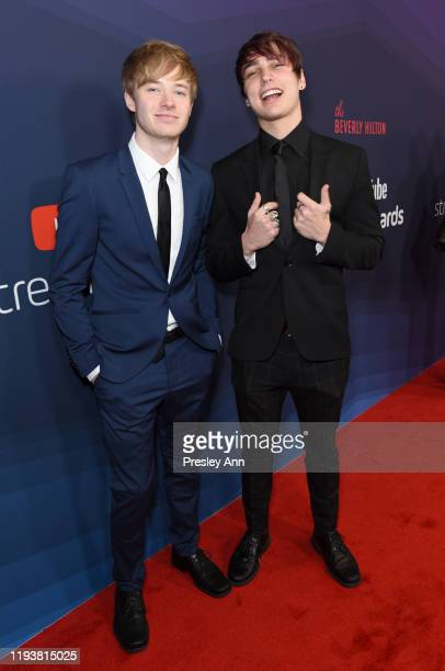 Sam Golbach and Colby Brock attend The 9th Annual Streamy Awards on December 13 2019 in Los Angeles California
