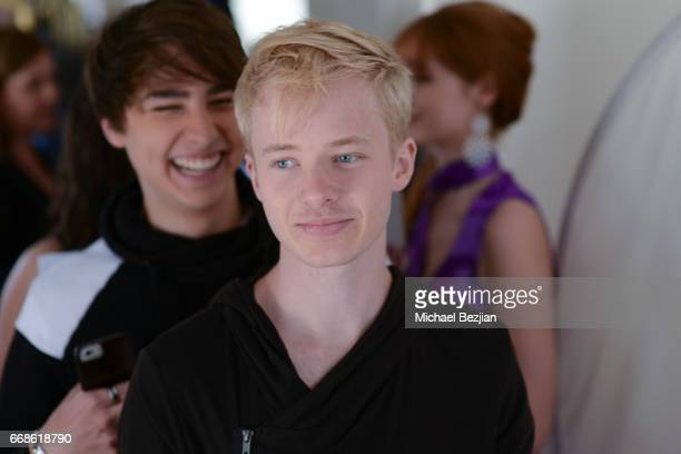 Sam Golbach and Colby Brock pose for portrait at The Artists Project on April 12 2017 in Los Angeles California