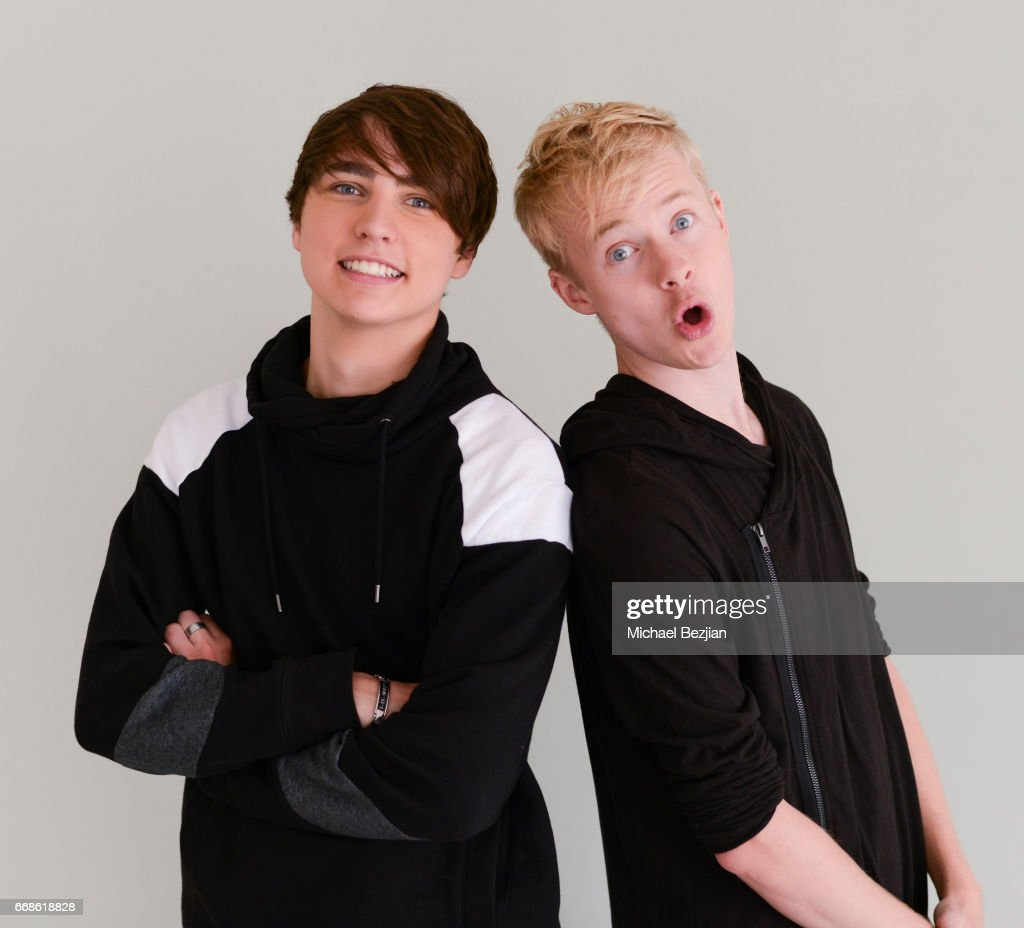 Sam And Colby TV With Free2Luv.org Visit The Artists Project : News Photo