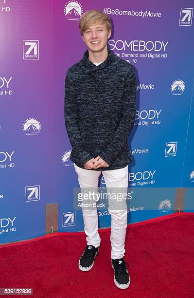 Sam Golbach attends Screening Of G2's Be Somebody Arrivals at ArcLight Cinemas on June 9 2016 in Hollywood California