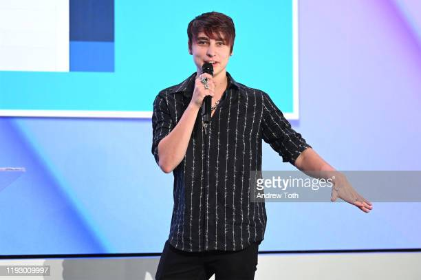 Sam Golbach attends the 2019 Streamys Social Good Awards at YouTube Space LA on December 09 2019 in Los Angeles California