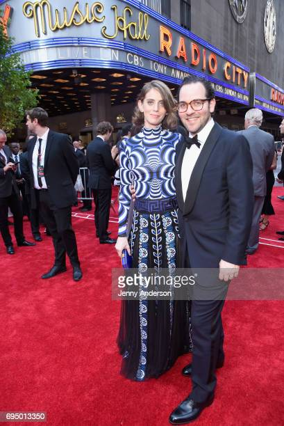 Sam Gold and Amy Herzog attend the 2017 Tony Awards at Radio City Music Hall on June 11 2017 in New York City
