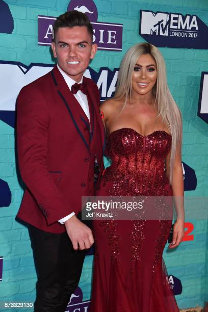 Sam Gowland and Chloe Ferry attend the MTV EMAs 2017 held at The SSE Arena Wembley on November 12 2017 in London England