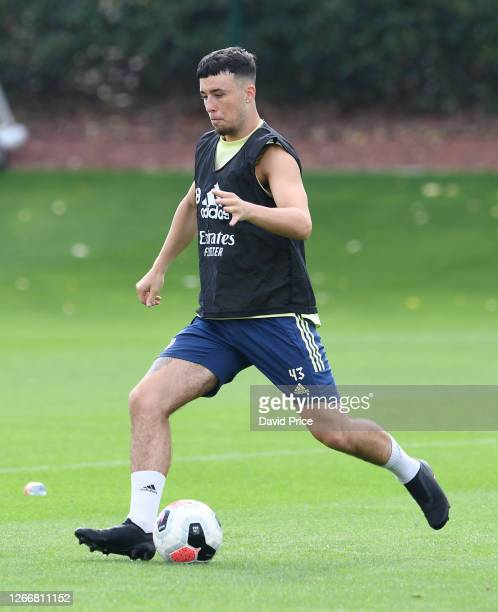 Sam Greenwood of Arsenal during the Arsenal U23 training session at London Colney on August 17, 2020 in St Albans, England.