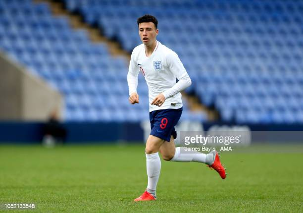 Sam Greenwood of England during the U17 International Youth Tournament game between England and Russia at New Meadow on October 14 2018 in Shrewsbury...