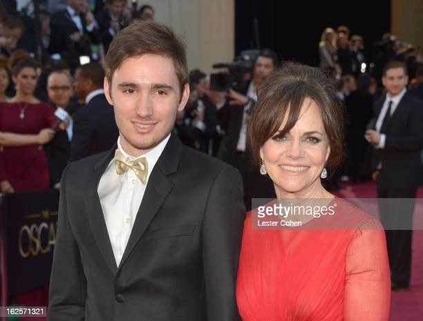 Sam Greisman and actress Sally Field arrive at the Oscars at Hollywood Highland Center on February 24 2013 in Hollywood California