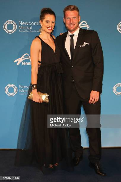 Sam Groth and Brittany Boys arrive at the 2017 Newcombe Medal at Crown Palladium on November 27 2017 in Melbourne Australia