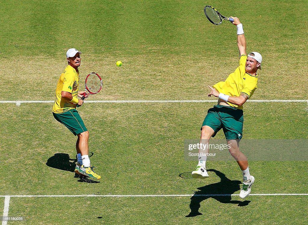 Australia v Kazakhstan - Davis Cup: Day 2