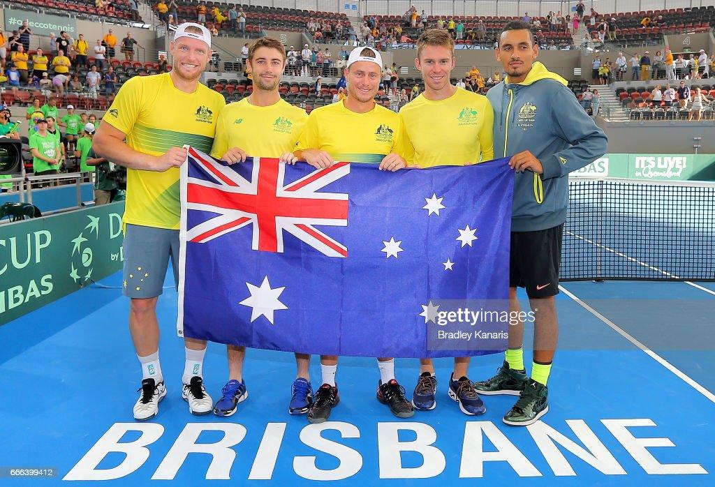 Australia v USA - Davis Cup World Group Quarterfinals : News Photo