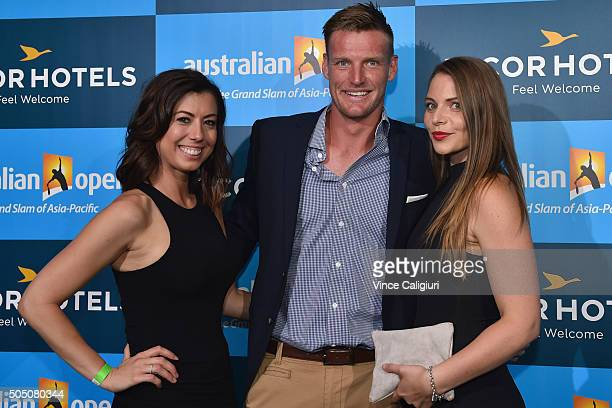 Sam Groth of Australia arrives at the 2016 Australian Open Players Party at CLub Sofitel Lounge on January 15 2016 in Melbourne Australia