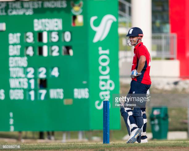 Sam Hain of North looks on during the ECB North v South Series warm up game between North and Northamptonshire at 3Ws Oval on March 15 2018 in...