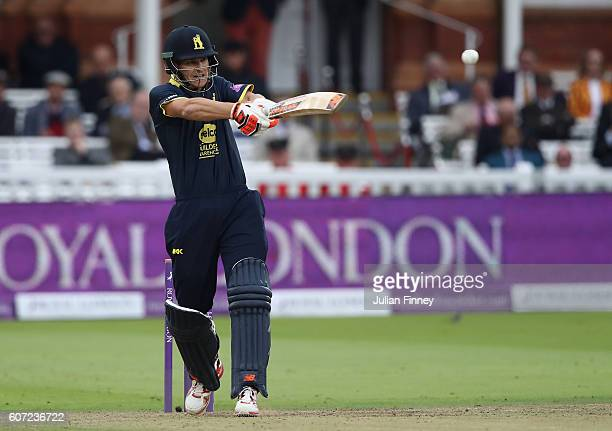 Sam Hain of Warwickshire bats during the Royal London oneday cup final between Warwickshire and Surrey at Lord's Cricket Ground on September 17 2016...