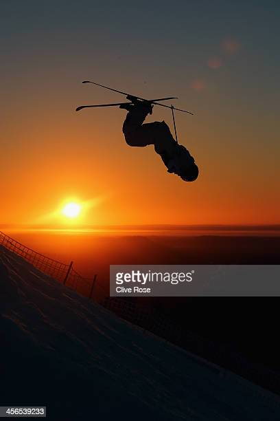 Sam Hall of Australia competes in the Men's Moguls qualifying round during the FIS Freestyle Ski World Cup Ruka on December 14 2013 in Kuusamo Finland