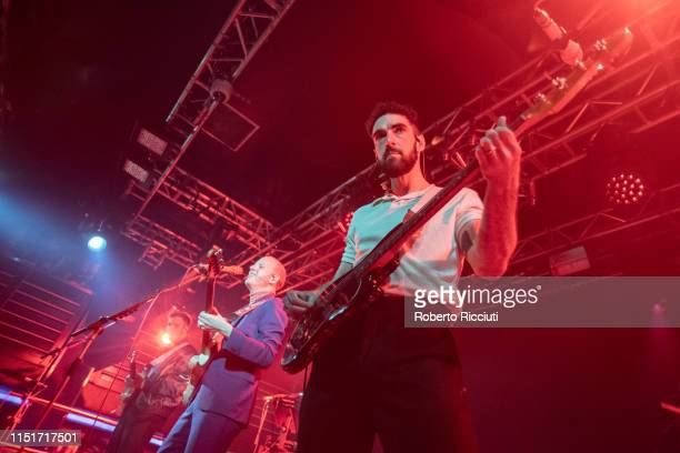 Sam Halliday Alex Trimble and Kevin Baird of Two Door Cinema Club perform live on stage at The Liquid Room on June 24 2019 in Edinburgh Scotland