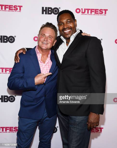 Sam Harris and Mykelti Williamson arrive at the 2019 Outfest Los Angeles LGBTQ Film Festival World Premiere of HAM A Musical Memoir at the TCL...