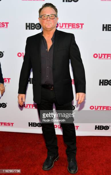 Sam Harris attends the Outfest Los Angeles LGBTQ Film Festival Opening Night Gala premiere of Circus Of Books at Orpheum Theatre on July 18 2019 in...