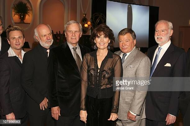 Sam Harris James Burrows Tom Brokaw Lucie Arnaz William Shatner and Leonard Goldberg