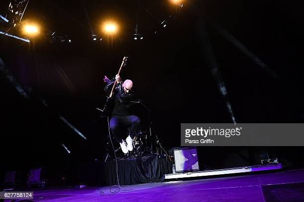 Sam Harris of X Ambassadors performs in concert at Star 941 Jingle Jam at Infinite Energy Arena on December 4 2016 in Duluth Georgia
