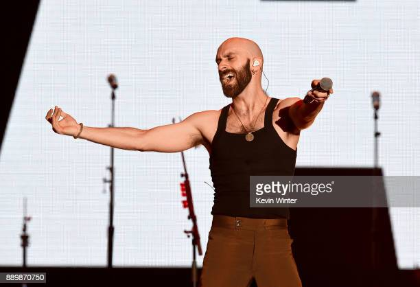 Sam Harris of X Ambassadors performs onstage during KROQ Almost Acoustic Christmas 2017 at The Forum on December 10 2017 in Inglewood California