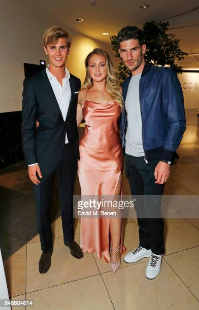 Sam Harwood Iskra Lawrence and Ryan Barrett attend the COS 10 year anniversary party at The National Gallery on September 17 2017 in London England