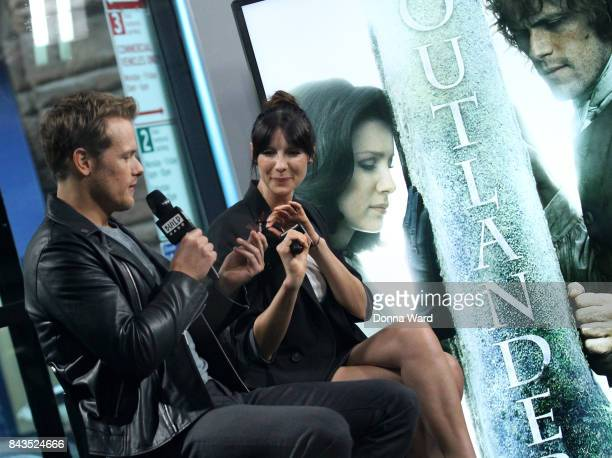 Sam Heughan and Caitriona Balfe appear to promote Outlander during the BUILD Series at Build Studio on September 6 2017 in New York City