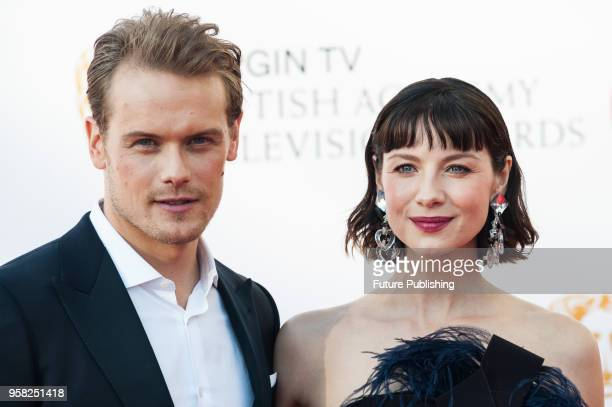 Sam Heughan and Caitriona Balfe attend the Virgin TV British Academy Television Awards ceremony at the Royal Festival Hall on May 13 2018 in London...