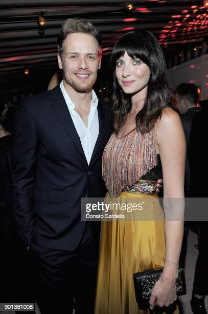 Sam Heughan and Caitriona Balfe attend W Magazine's Celebration of its 'Best Performances' Portfolio and the Golden Globes with Audi Dior and Dom...