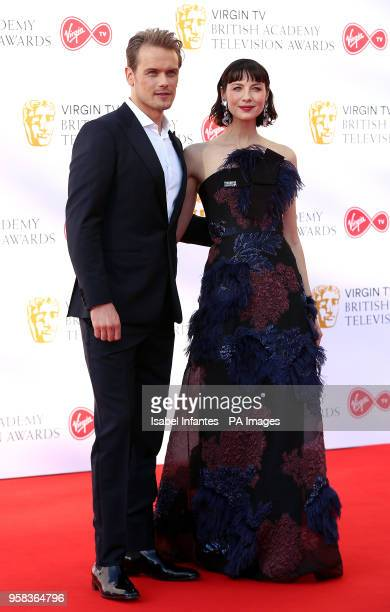 Sam Heughan and Catriona Balfe attending the Virgin TV British Academy Television Awards 2018 held at the Royal Festival Hall Southbank Centre London