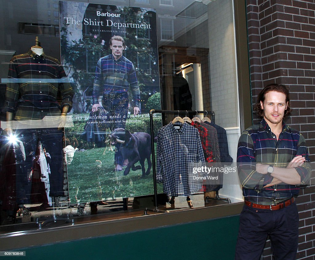 Sam Heughan Visits The Barbour Madison Avenue Store