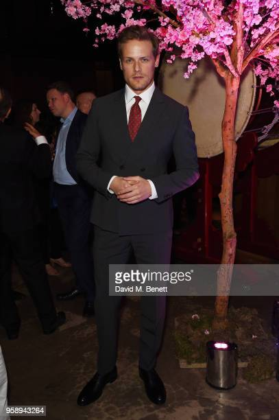Sam Heughan arrives at the Nobu Hotel London Shoreditch official launch event on May 15 2018 in London United Kingdom